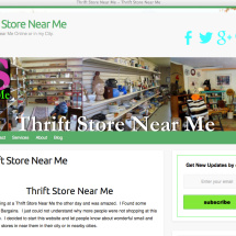 Thrift Store Blog Website